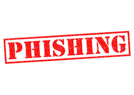 criminal activity: PHISHING red Rubber Stamp over a white background.