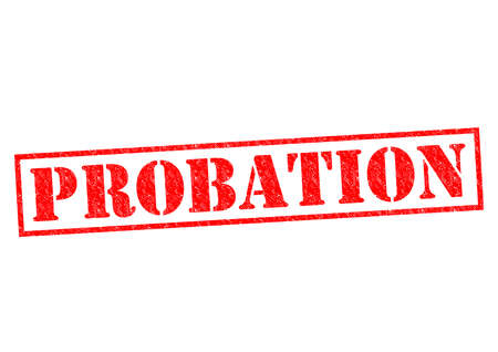 bail: PROBATION red Rubber Stamp over a white background.