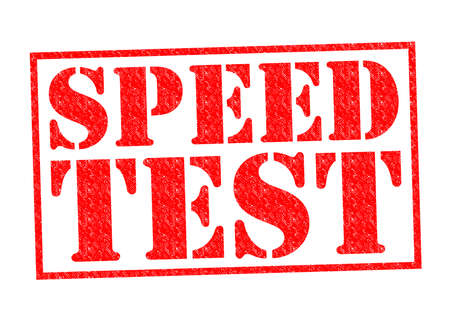 speed test: SPEED TEST red Rubber Stamp over a white background.
