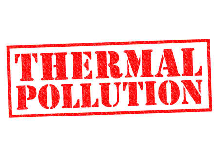 THERMAL POLLUTION red Rubber Stamp over a white background. photo