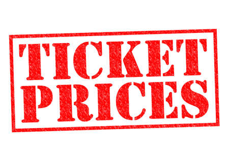 hidden fees: TICKET PRICES red Rubber Stamp over a white background. Stock Photo