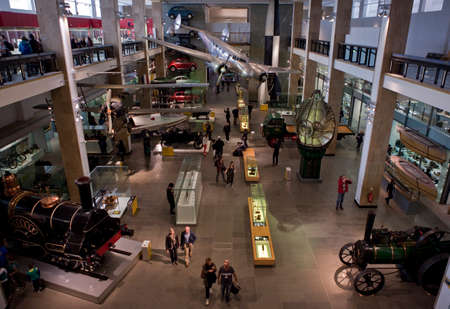 the british museum: LONDON, UK - OCTOBER 22ND 2014: An interior shot of the Science Museum in London on 22nd October 2014.