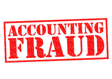 taxman: ACCOUNTING FRAUD red Rubber Stamp over a white background.