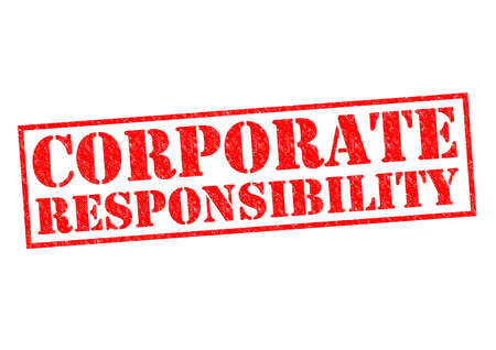 decency: CORPORATE RESPONSIBILITY red Rubber Stamp over a white background.