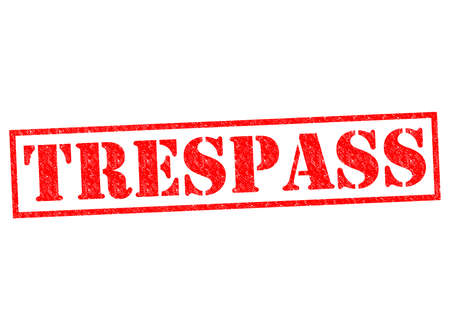 trespasser: TRESPASS red Rubber Stamp over a white background.
