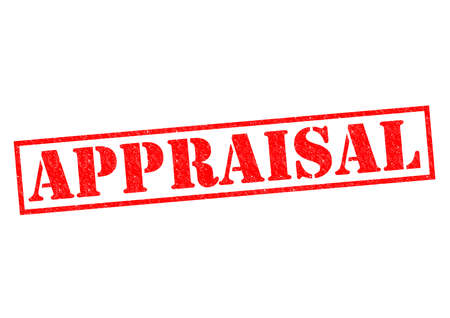 APPRAISAL red Rubber Stamp over a white background. photo