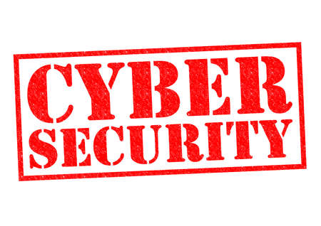 infect: CYBER SECURITY red Rubber Stamp over a white background.