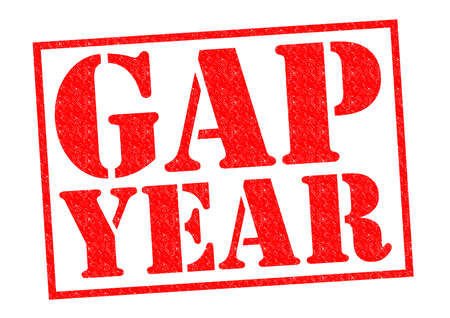 gap: GAP YEAR red Rubber Stamp over a white background. Stock Photo