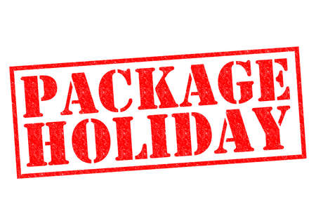 long weekend: PACKAGE HOLIDAY red Rubber Stamp over a white background.