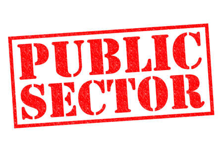 tertiary: PUBLIC SECTOR red Rubber Stamp over a white background.