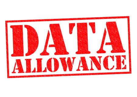 allowance: DATA ALLOWANCE red Rubber Stamp over a white background.