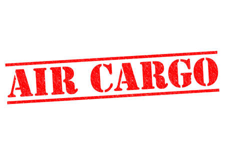 air cargo: AIR CARGO red Rubber Stamp over a white background.