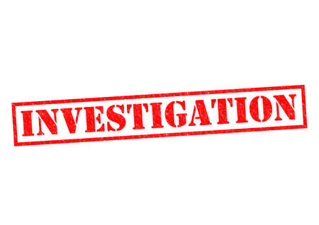 INVESTIGATION red Rubber Stamp over a white background.