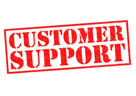 troubleshooting: CUSTOMER SUPPORT red Rubber Stamp over a white background.