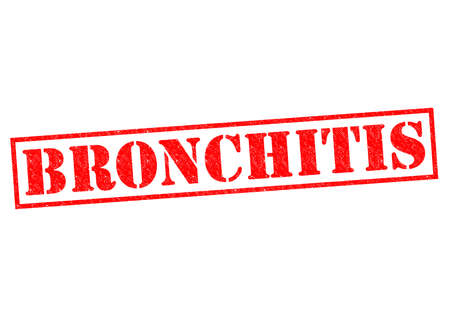 obstructive: BRONCHITIS red Rubber Stamp over a white background.