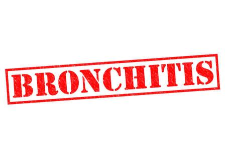 chronic bronchitis: BRONCHITIS red Rubber Stamp over a white background.