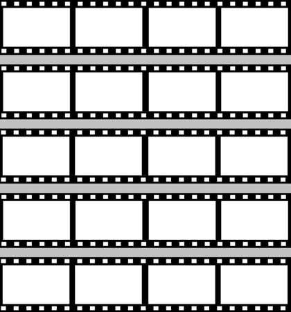 negatives: A sheet of blank 35mm film reelsstrips. Stock Photo