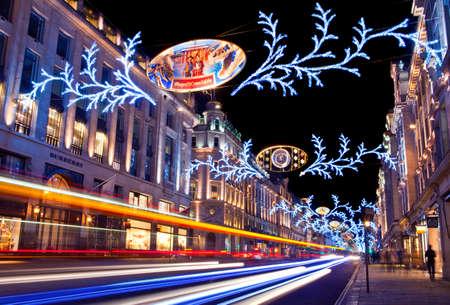 The beautiful Regent Street Christmas Lights in London.