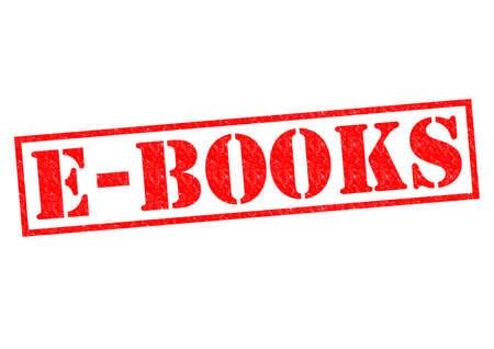 e books: E-BOOKS red Rubber Stamp over a white background.