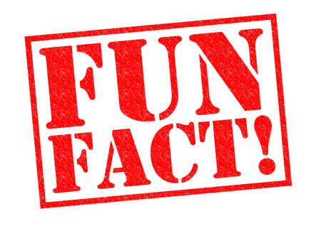 fact: FUN FACT! red Rubber Stamp over a white background.