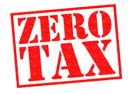 levy: ZERO TAX red Rubber Stamp over a white background.