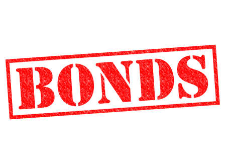 credit crisis: BONDS red Rubber Stamp over a white background.