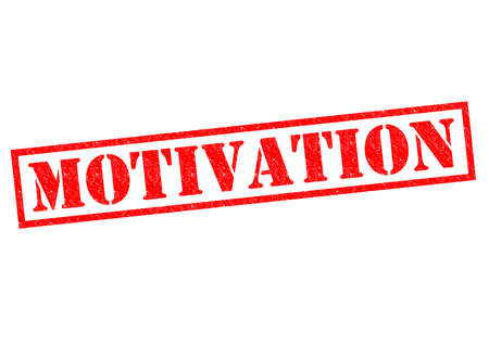 catalyst: MOTIVATION red Rubber Stamp over a white background. Stock Photo