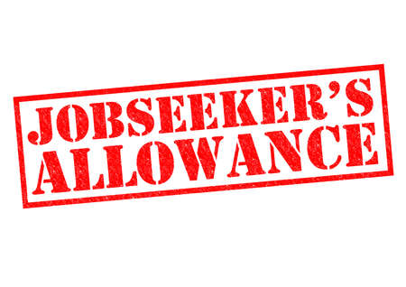 allowance: JOBSEEKERS ALLOWANCE red Rubber Stamp over a white background.