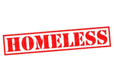 underprivileged: HOMELESS rosso Timbro su uno sfondo bianco.