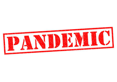 pandemic: PANDEMIC red Rubber Stamp over a white background. Stock Photo