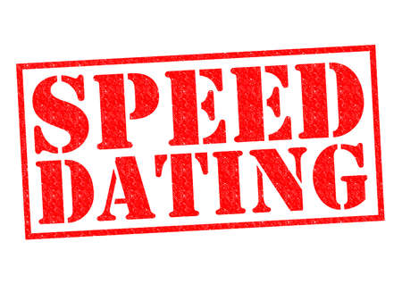 dating: SPEED DATING red Rubber Stamp over a white background.