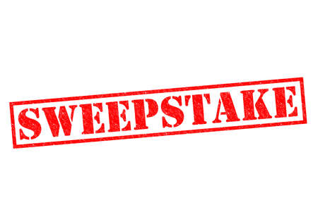 sweepstake: SWEEPSTAKE red Rubber Stamp over a white background.