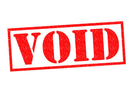 void: VOID red Rubber Stamp over a white background.