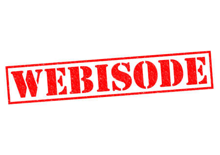 web cast: WEBISODE red Rubber Stamp over a white background. Stock Photo