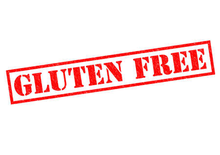 intolerant: GLUTEN FREE red Rubber stamp over a white background.