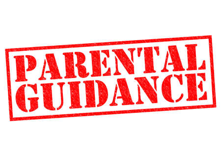 PARENTAL GUIDANCE red Rubber Stamp over a white background.