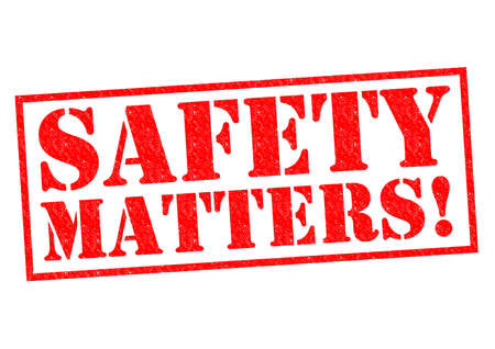 matters: SAFETY MATTERS! red Rubber Stamp over a white background.