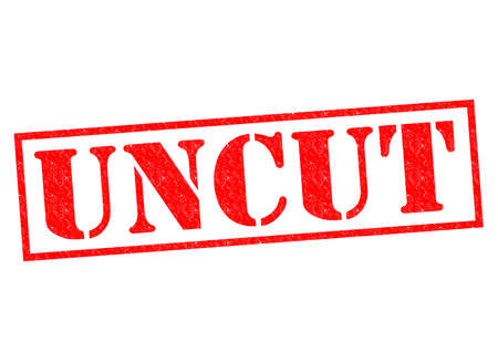 uncut: UNCUT red Rubber Stamp over a white background. Stock Photo