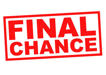 FINAL CHANCE red Rubber Stamp over a white background. photo