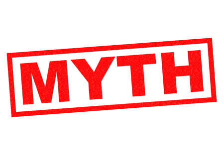 myth: MYTH red Rubber Stamp over a white background.