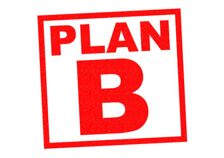 plan b: PLAN B red Rubber Stamp over a white background.