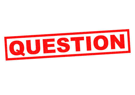 QUESTION red Rubber Stamp over a white background.