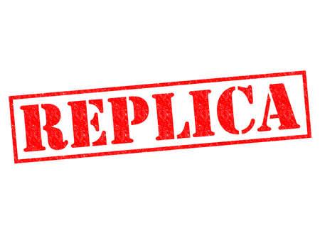 replica: REPLICA red Rubber Stamp over a white background.