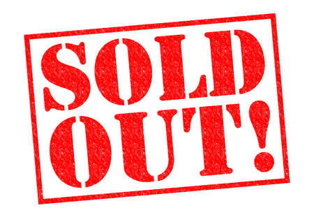 sell out: SOLD OUT! red Rubber Stamp over a white background. Stock Photo