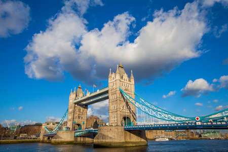 The magnificent Tower Bridge spanning across the River Thames in London. photo