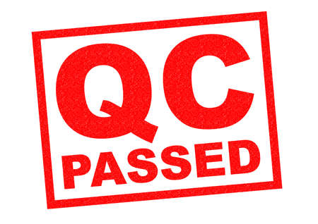 qc: QC PASSED red Rubber Stamp over a white background.