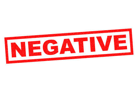 adverse: NEGATIVE red Rubber Stamp over a white background.