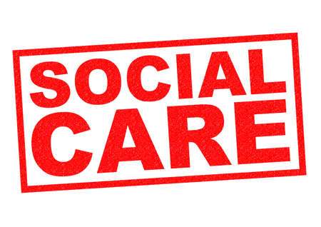 liberties: SOCIAL CARE red Rubber Stamp over a white background.