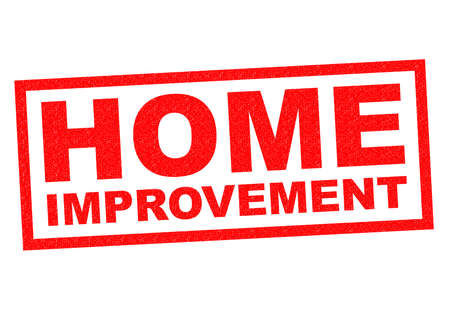home improvement: HOME IMPROVEMENT red Rubber Stamp over a white background.