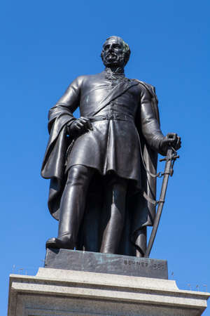 henry: A statue of Sir Henry Havelock, a former British General, sitauted in Trafalgar Square in London. Editorial